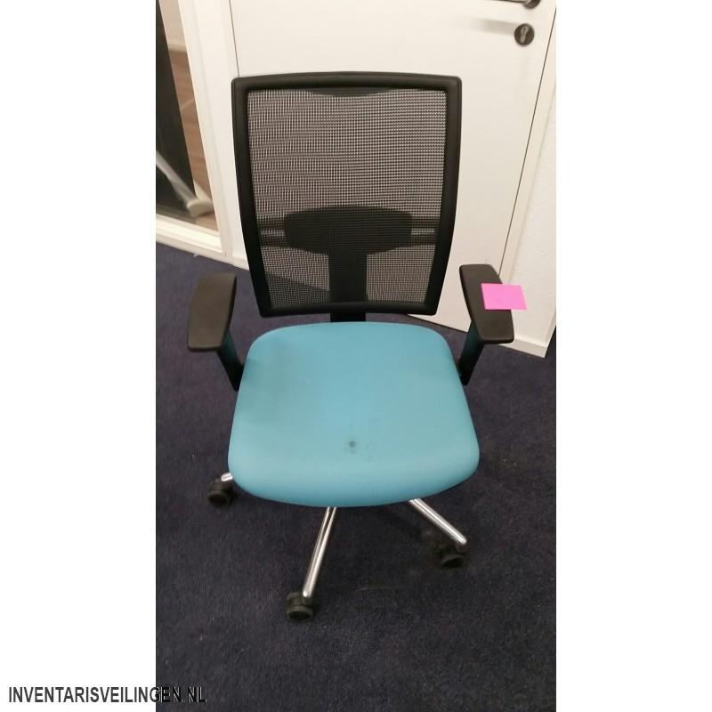 Bureaustoel Blauw Zwart.Bureaustoel Blauw Zwart